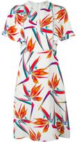 Fendi Bird of Paradise print dress - women - Silk - 40