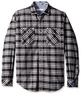 James Campbell Men's Agra Plaid Flannel Long Sleeve Shirt