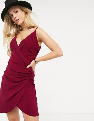 Free People Dylan ruched bodycon slip dress