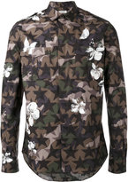 Valentino Camustar and floral print shirt - men - Cotton - 39