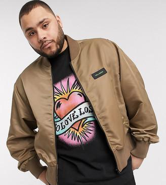 Collusion Plus bomber jacket in khaki