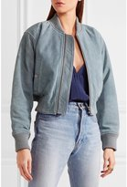 See by Chloe Suede Bomber Jacket Pearl Grey
