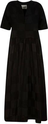 Jil Sander Checked Long Wide Dress