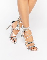 Metallic Strappy Heels - ShopStyle