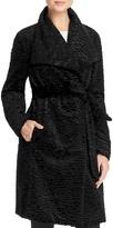 Basler Belted Faux Fur Astrakhan Coat