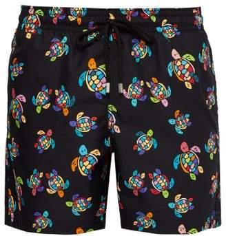 Vilebrequin Moorea Turtle Print Swim Shorts - Mens - Black Multi