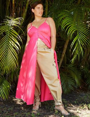 ELOQUII Button Front Maxi Dress