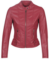 Moony Mood LINETTE women's Leather jacket in Red