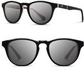 Shwood Men's 'Francis - Pendleton' 48Mm Polarized Sunglasses - Black/ Turquoise Serape/ Grey