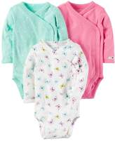 Carter's Baby Girls' 3-Pack Side Snap Bodysuits