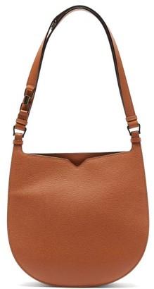Valextra Hobo Weekend Medium Leather Bag - Tan