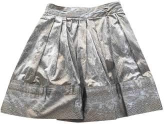 Diane von Furstenberg Metallic Silk Skirts
