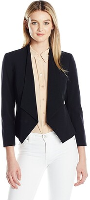 Nine West Women's Shawl Collar Solid Jacket