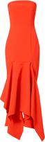SOLACE London Veronique Strapless Midi Dress
