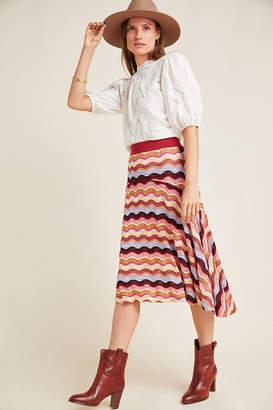 Cecilia Prado Striped High-Low Skirt