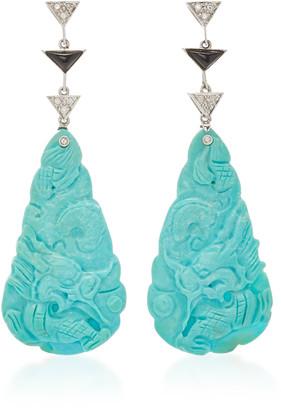 Gioia Bini 18K White Gold And Multi-Stone Earrings