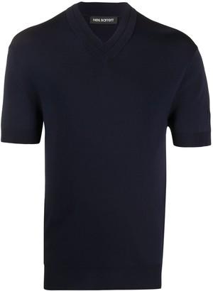 Neil Barrett knitted v-neck T-shirt