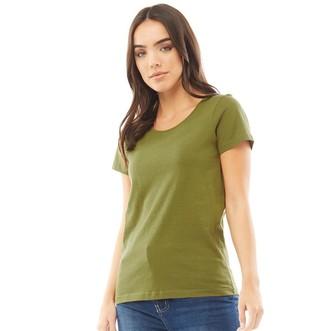 Fluid Womens Basic T-Shirt Olive