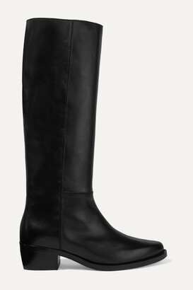 LEGRES 06 Leather Knee Boots - Black