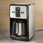 Crate & Barrel Krups Savoy Turbo 12-Cup Stainless Steel Coffee Maker with Thermal Carafe
