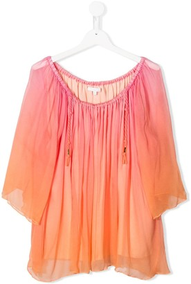 Chloé Kids TEEN sheer overlay blouse
