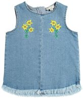 Stella McCartney Floral Embroidered Stretch Denim Top