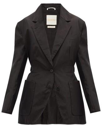 Zanini - Single-breasted Tie-back Blazer - Black