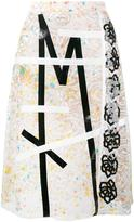 Christopher Kane lace embroidered midi skirt