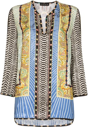 Etro patterned kaftan blouse