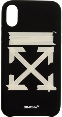 Off-White Black and Beige Tape Arrows iPhone XR Case