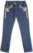 Ermanno Scervino Stretch Denim Jeans With Lace Detail