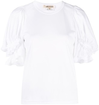 Comme des Garcons ruffled balloon sleeve T-shirt