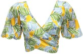 Bec & Bridge Palm Paradise Printed Satin Crop Top