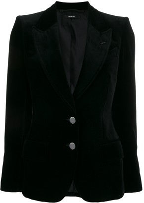 Tom Ford velvet two-button blazer