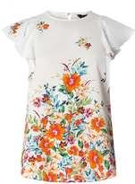 Dorothy Perkins Ivory Floral Border Top