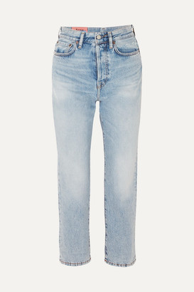 Acne Studios Cropped High-rise Straight-leg Jeans - Mid denim