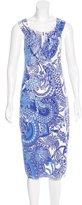 Blumarine Ruffle-Trimmed Paisley Dress