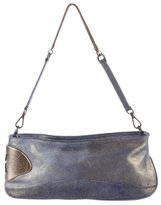 Halston Metallic Leather Shoulder Bag