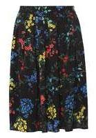 Dorothy Perkins Womens Black Blossom Print Skirt- Black