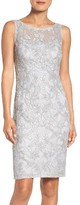 Adrianna Papell Women's Mesh Sheath Dress