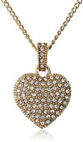 """Judith Jack Golden Class"""" Sterling Silver and Gold-Tone Crystal Marcasite Heart Pendant Necklace"""