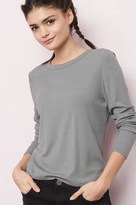 Garage Ribbed Crew Neck Long Sleeve Top
