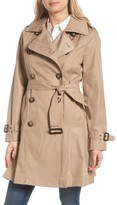 MICHAEL Michael Kors Women's Double Breasted Skirted Trench Coat
