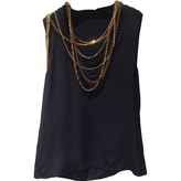 Balmain Navy Silk Top