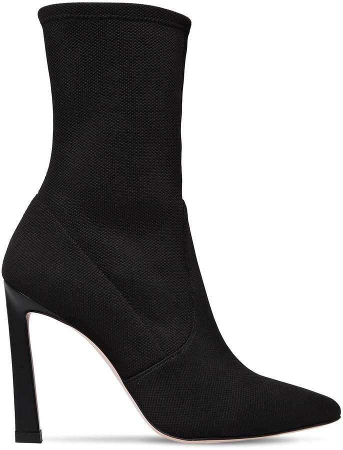 Stuart Weitzman 100mm Rapture Knit Sock Ankle Boots