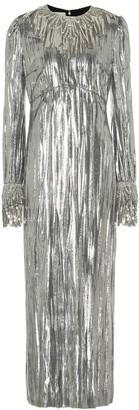 Gucci Embellished laminated-velvet gown