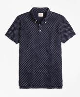 Brooks Brothers Micro-Dot-Print Polo Shirt