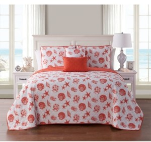 Vcny Home Marco Island Shells Reversible 5-Pc. Twin Xl Quilt Set