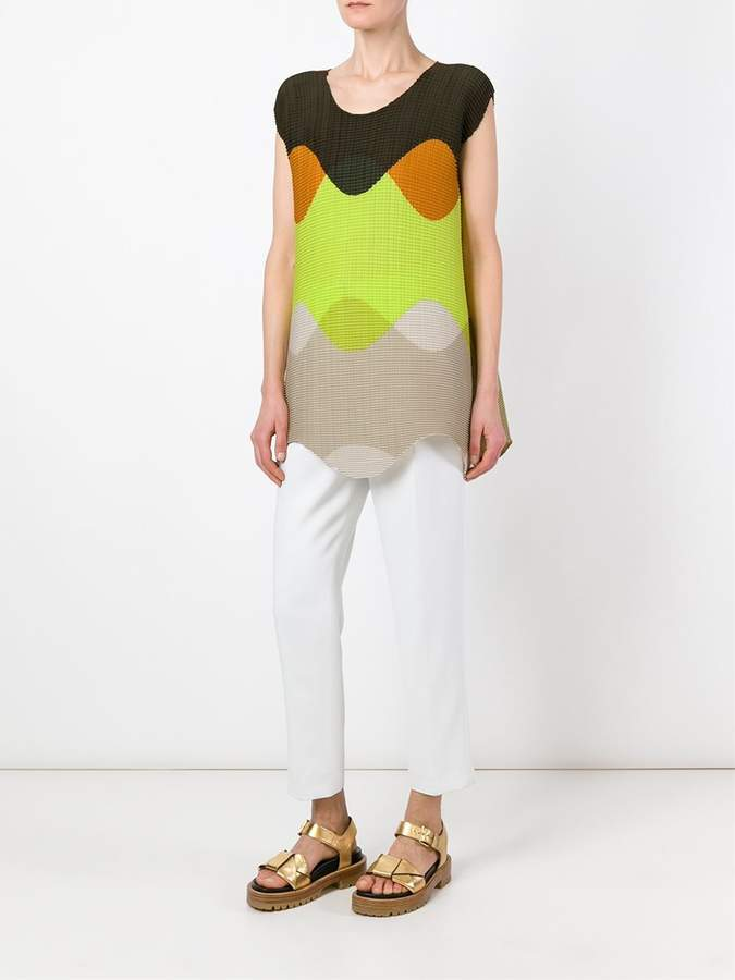 Issey Miyake block colour vest