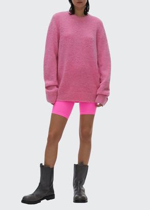 Helmut Lang Brushed Alpaca Crewneck Sweater